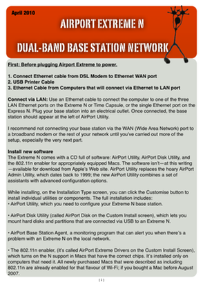 AIRPORT EXTREME N DUAL-BAND BASE STATION NETWORK
